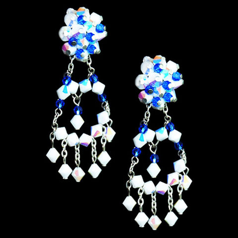 Blue Bouquet Earrings