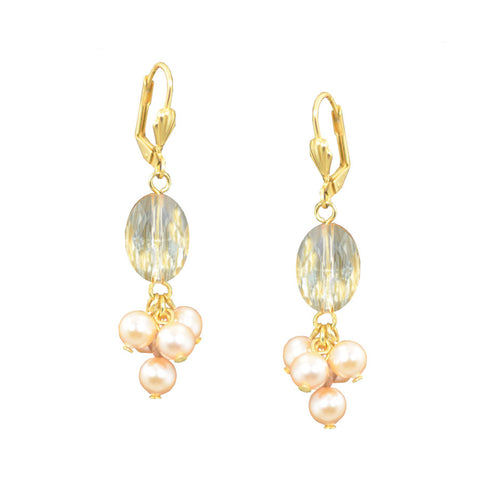 Peach Honeymoon Earrings