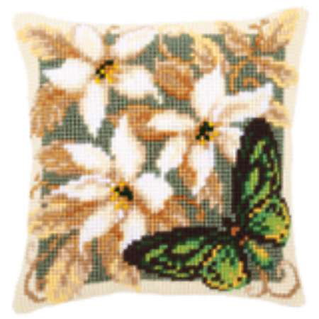 Green Butterfly Cushion