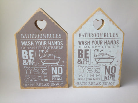 Bathroom Rules...