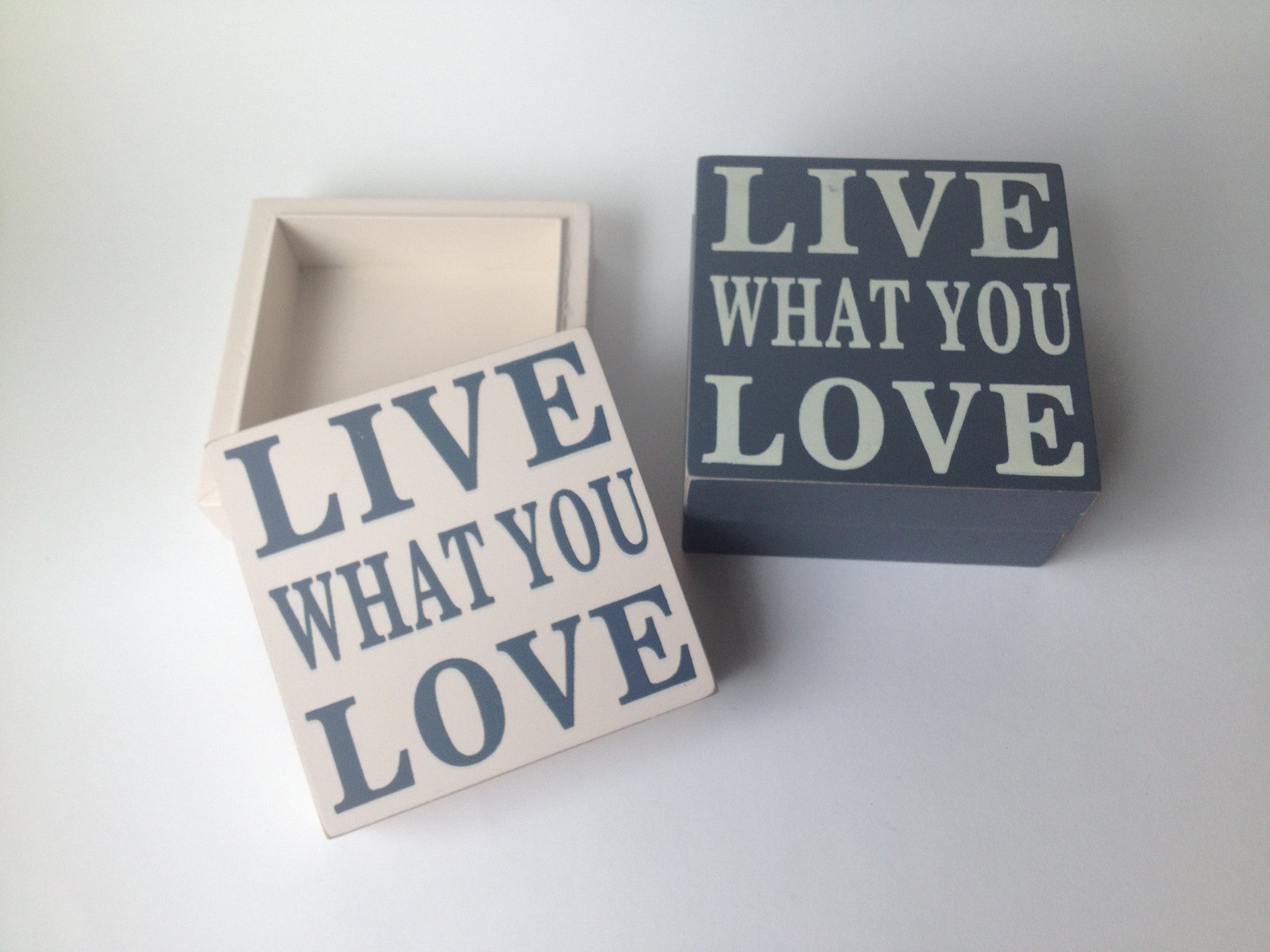 Wooden Trinket Box - Live What You Love