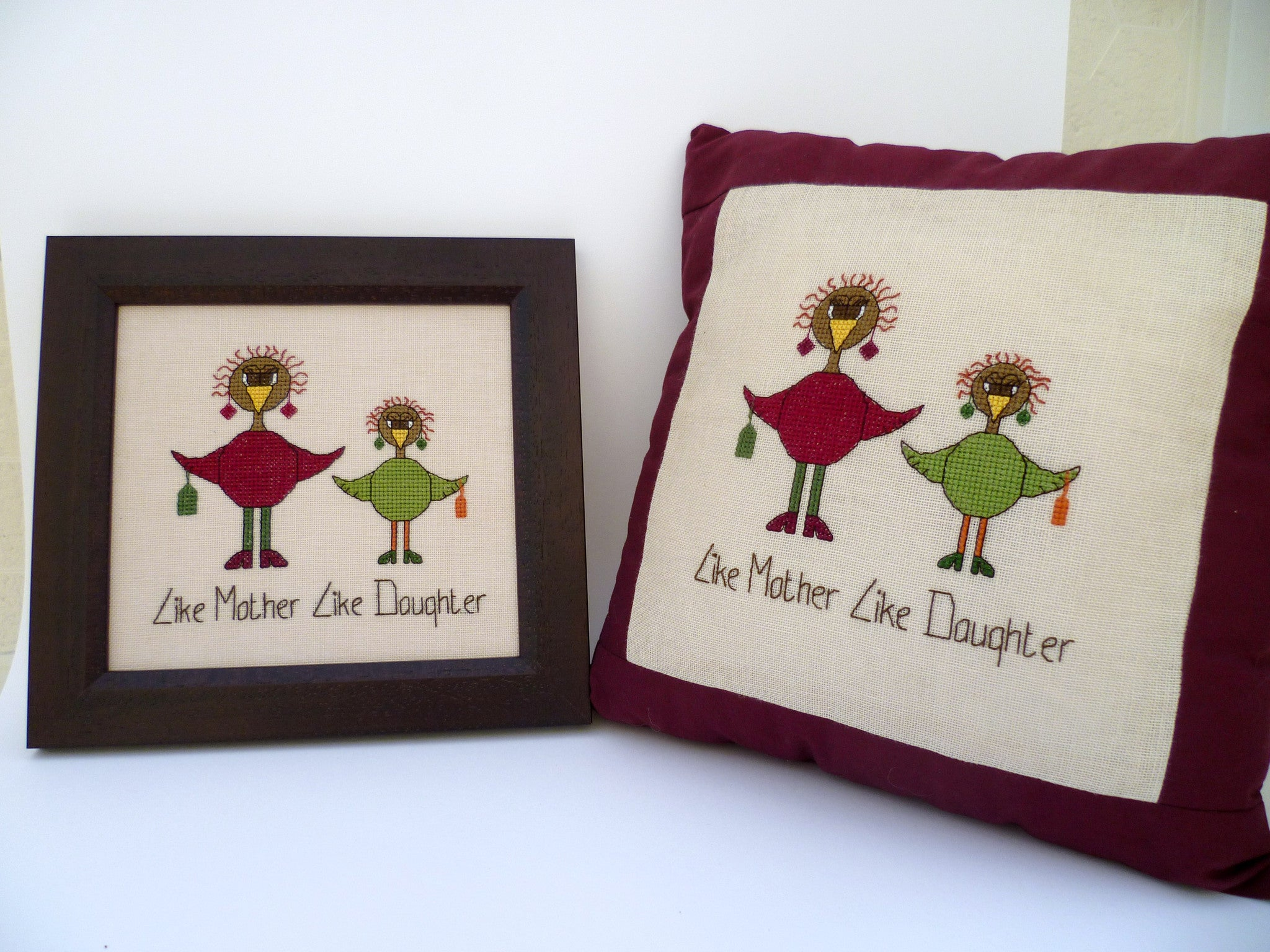 Like Mother Like Daughter Cross Stitch