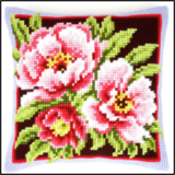 Pink Flowers Cushion