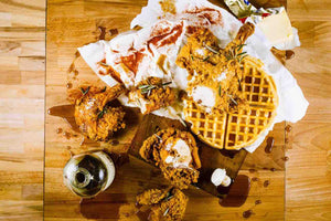 Chipotle Chicken & Waffle Social with Noble Handcrafted Bourbon Barrel Matured Maple Syrup