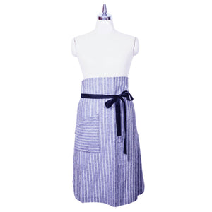 Handmade ChopCookDine cotton stripped apron - made in Hong Kong