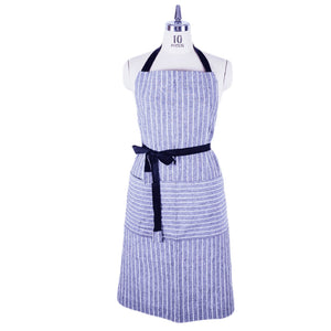 Handmade ChopCookDine cotton stripped full apron - made in Hong Kong