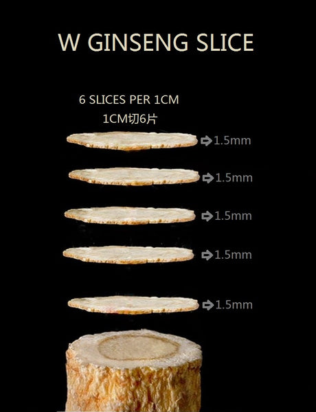 #252 Wisconsin Ginseng Round Slices - Large