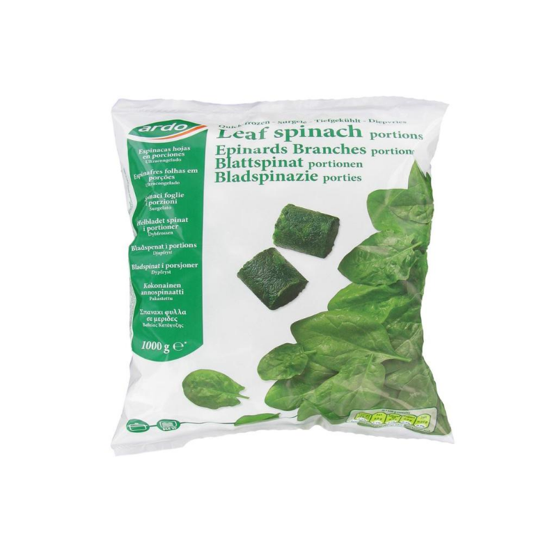 Spinach Leaf Portions - 2.5kg