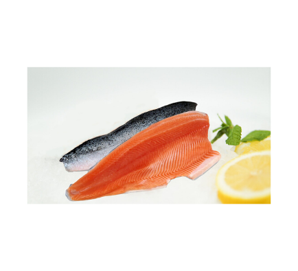 Salmon Fillet with Skin On (Frozen) - 1.4kg Approx