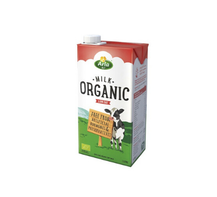 Low Fat Organic Milk - 1ltr