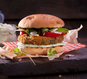 Vegetarian Spinach Cheese Burger - 113g x 4