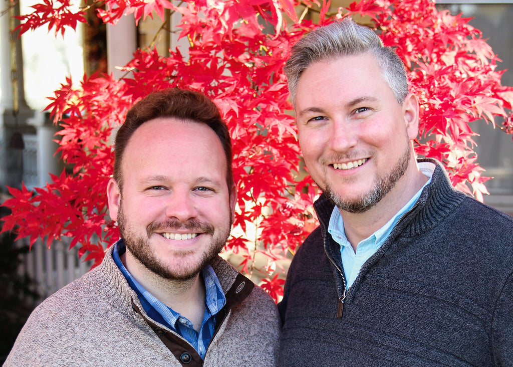 Founders of Magnolia Scents by Design Ryan McDiarmid and Brian Hight
