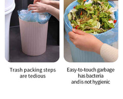 trash can with lid portable automatic packing