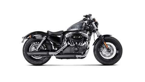 Akrapovič - Harley-Davidson Sportster XL1200V Seventy-Two 2014 Slip-On Exhaust (Black)