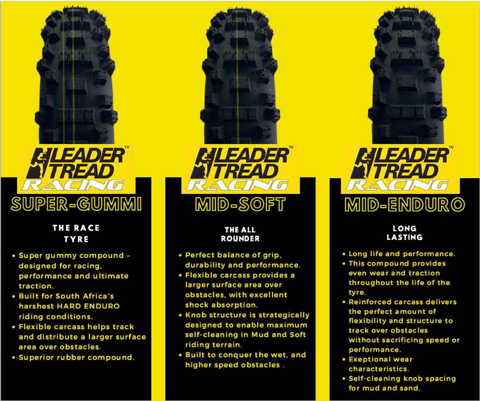 Leader Tread - Enduro Tyres (Rear)