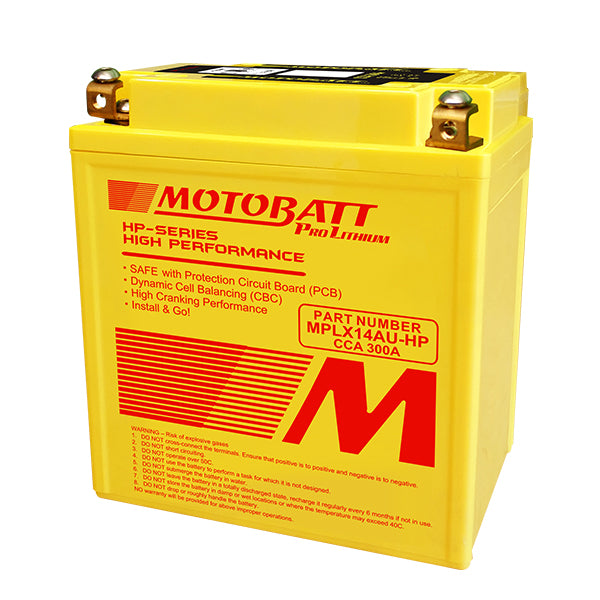 Motobatt - MPLX14AU-HP Lithium Battery