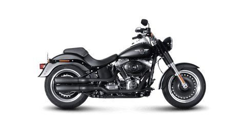 Akrapovič - Harley-Davidson Softail FLSTF Fat Boy 2007 Slip-On Exhaust (Black)