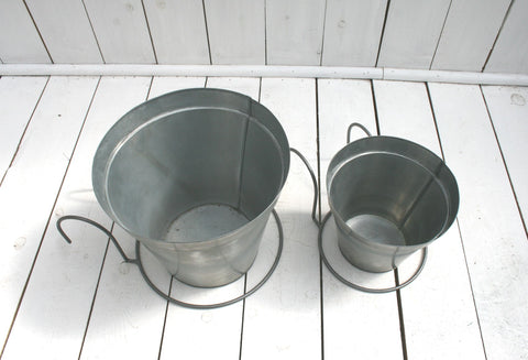 Steel hanging pot – large 20 cm