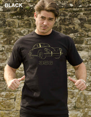 Celebrate the stylish lines of the Porsche 356 in our black 100% cotton quality regular fit T-shirt