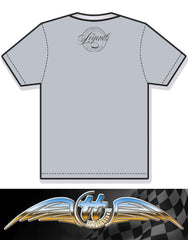 100% Cotton Heather Grey T-shirt featuring a 1959 Austin 7 'mini'