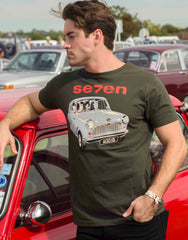 100% Cotton Charcoal 'fitted' T-shirt – featuring a 1959 Austin 7 'mini'