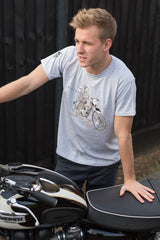 60th commemoration T-Shirt featuring the iconic Triumph Bonneville T120