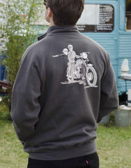 Bonneville T120: 60th celebration Men's cosy light graphite jacket in 'launch' advertising style