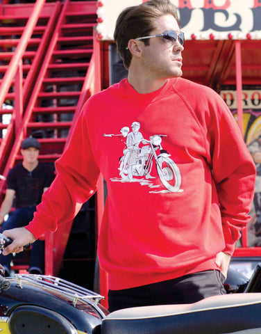 60th celebration Sweater featuring the Bonneville T120