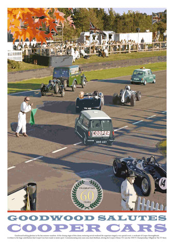 Goodwood Salutes Cooper Cars – Limited Edition Poster of just 100