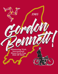 Gordon Bennett! – the pre-classic TTT-Shirt. The background behind the legend...