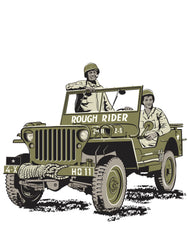 Jeep T-Shirt –  WW2 icon and a D-Day hero