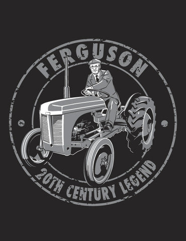Ferguson TE20/TO20 T-Shirt in 100% cotton light graphite colour