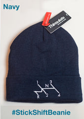 Beanie embroidered with Beetle isometric 'stick shift' decal!