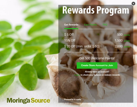 Moringa Source Rewards Program