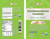 Ashwagandha Powder Label by Moringa Source
