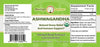 Ashwagandha Extract label by Moringa Source