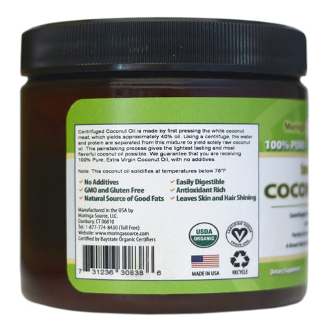 Nutritional Supplements - Coconut Oil - 15oz - Moringa Source