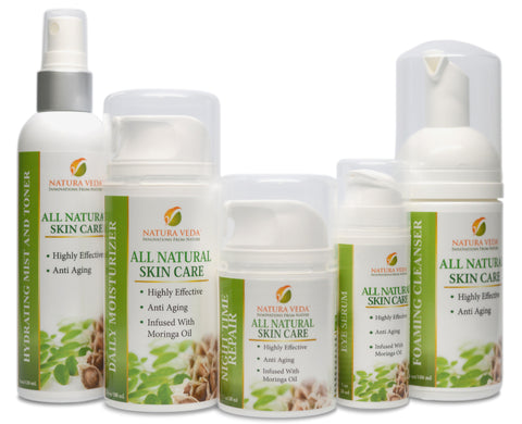 Skin Care Products - Natura Veda 5 Step Skin Care System - Moringa Source