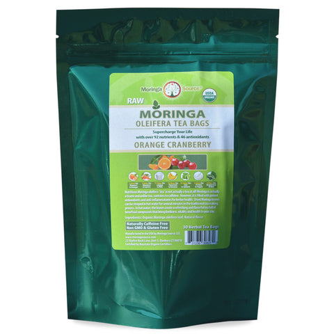 Moringa Tea - Orange Cranberry - 30ct by Moringa Source