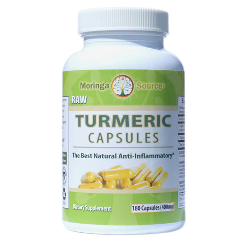 Turmeric Capsules - 180 count by Moringa Source