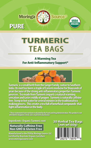 Turmeric Tea label by Moringa Source