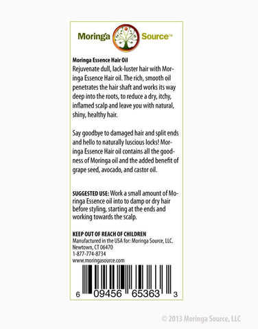 Personal Care Products - Moringa Hair Oil - Moringa Source