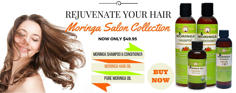Moringa Shampoo, conditioner, and oil