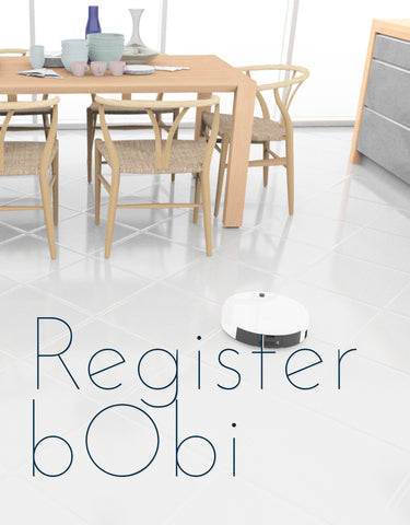 warranty registration, bObi robot vacuum
