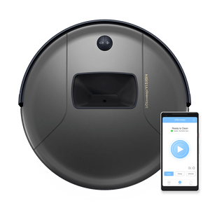 Bob PetHair Vision Robotic Vacuum Cleaner in space with mobile app
