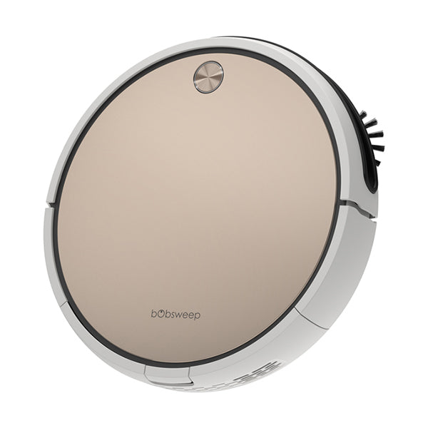 Bob Pro Robotic Vacuum Cleaner in gold angled