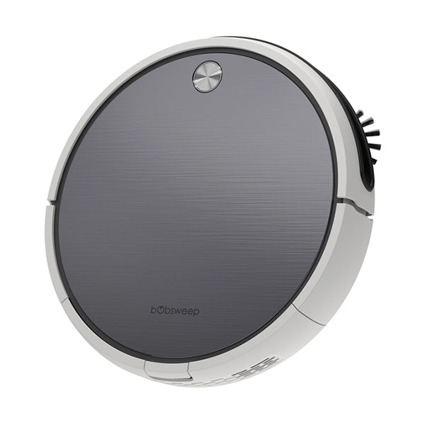 Bob Pro Robotic Vacuum Cleaner in steel angled