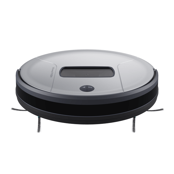 Bob PetHair Vision Robotic Vacuum Cleaner in steel front view