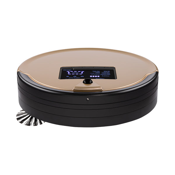 Bob PetHair Plus Robotic Vacuum Cleaner and Mop front view in champagne