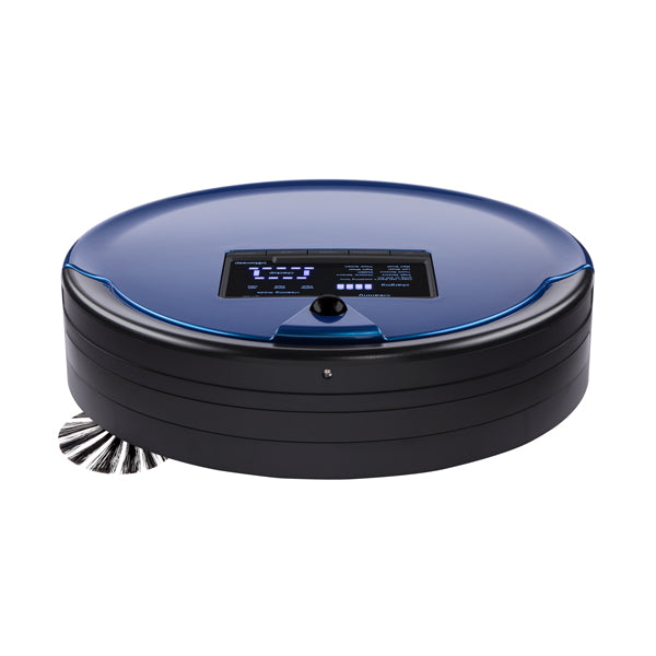 Bob PetHair Plus Robotic Vacuum Cleaner and Mop front view in cobalt